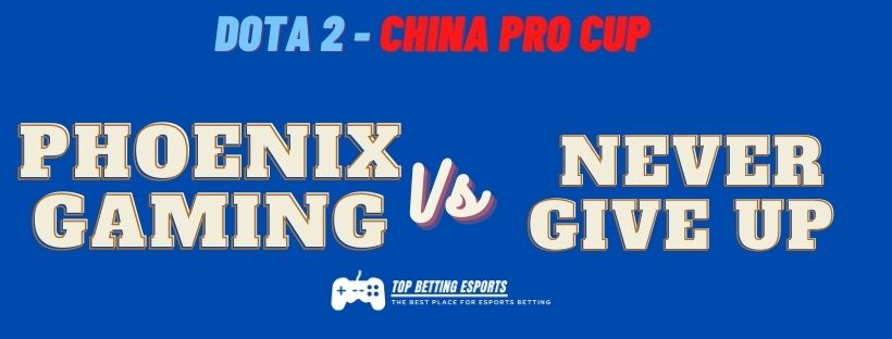 Esports Betting Tips: PHOENIX GAMING  VS NEVER GIVE UP DOTA 2 China Pro Cup Prediction