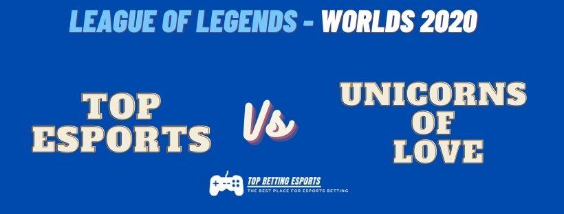 eSports Betting tips Top Esports vs Unicorns of Love