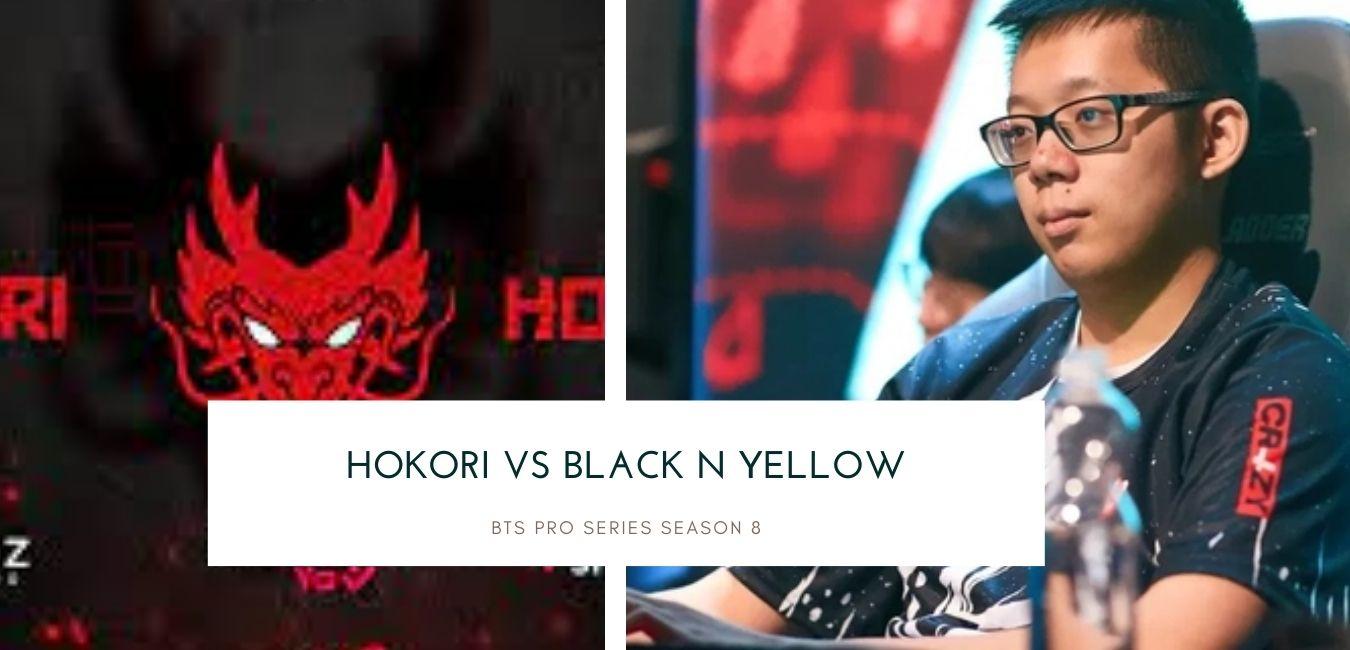 BTS Pro Series Season Hokori vs Black N Yellow