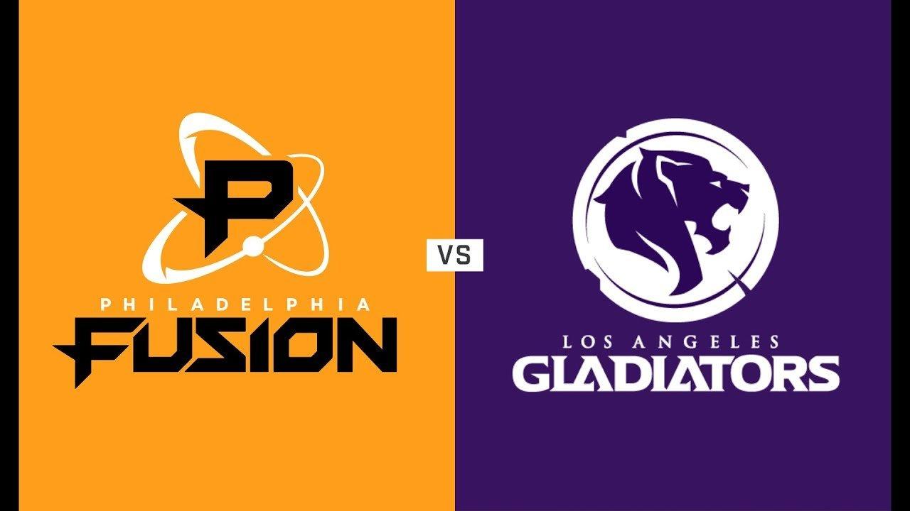 Overwatch playoffs Los Angeles Gladiators vs Philadelphia Fusion