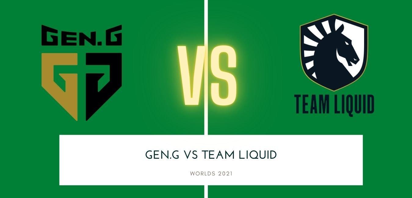 Worlds 2021 Team Liquid vs Gen.G